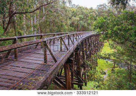 Noojee Trestle Rail Bridge In Victoria Australia