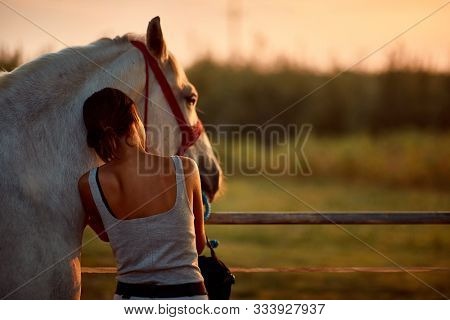 Horse human moments, human horse relationship, rider and her horse
