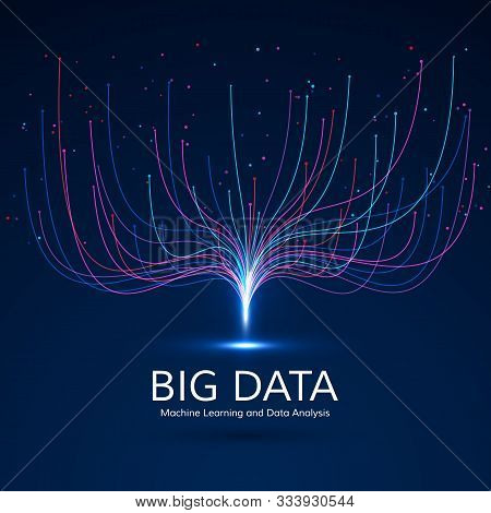 Abstract Big Data Visual Concept. Digital Technology Visualization. Machine Learning And Data Analys