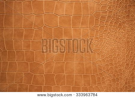 Texture Brown Faux Leather With A Variable Cell.