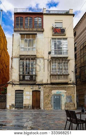 Main street buildings in Cartagena, Murcia, Spain poster