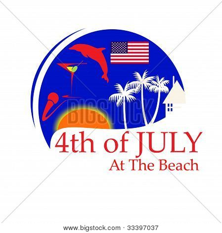 4th of July art illustration