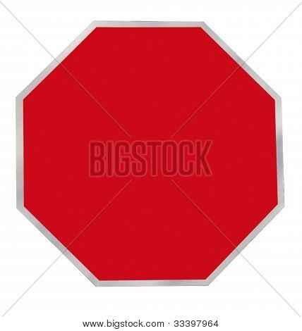 Red Octagon Blank Sign
