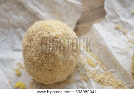 Step Of Preparation Of A Sicilian Arancini