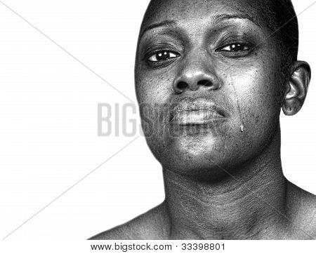 Black Woman Crying