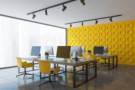 Yellow Open Space Office Corner