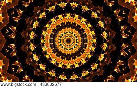 Very Beautiful Kaleidoscope Images For Your Design, Kaledoscope Orange Pattern