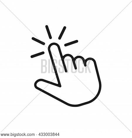 Hand Click Icon Symbol. Clicking Finger Icon. Hand Pointer Icon Vector Illustration Isolated On Whit