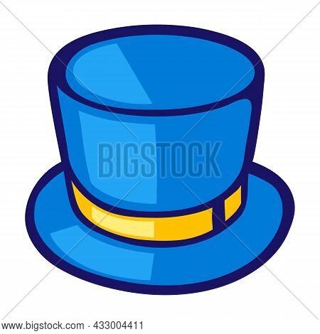 Illustration Of Cylinder Hat In Cartoon Style. Cute Funny Object.