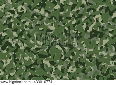 Army Camouflage Background Pattern Green Camo Vector Design