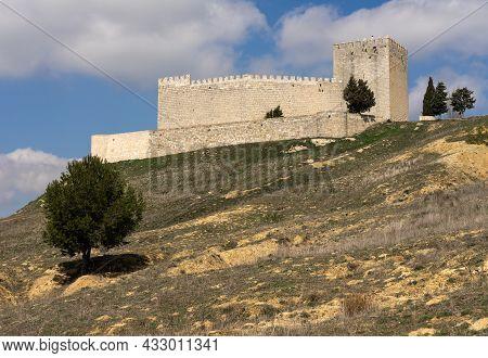 Castle Of Monzón De Campos In A Sunny Day, Palencia, Castilla Y León, Spain.