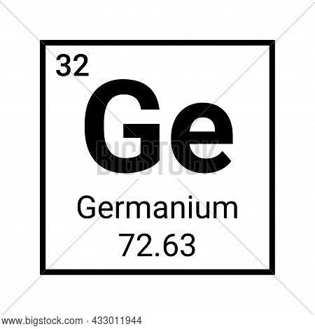 Germanium Education Periodic Element Atomic Chemistry Symbol Icon