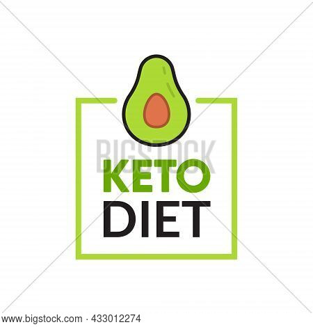 Keto Diet Icon Logo. Ketogenic Approved Sign Vector Icon