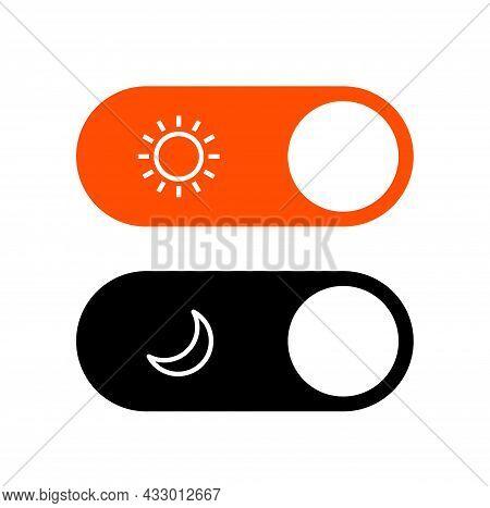 Day Night Mode Switch Ui Button. Light Dark Mode Slider Theme