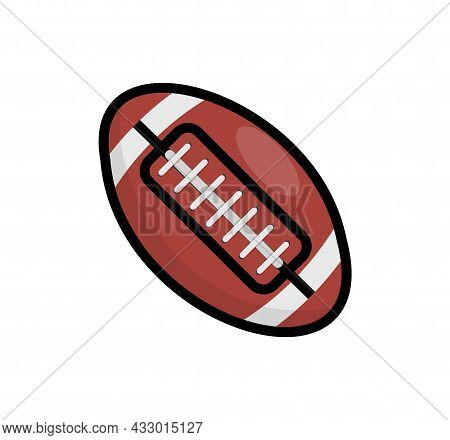 Rugby Ball Vector Icon. American Football Illustration Background League Isolated Logo
