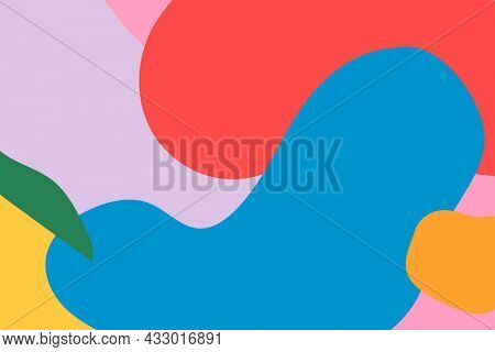 Abstract pattern background in colorful memphis style