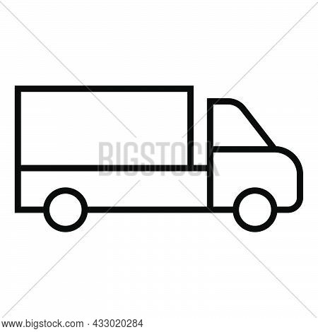 Delivery Lorry. Shipping Van. Courier Transport. Lorry Icon. Outline Delivery Symbol