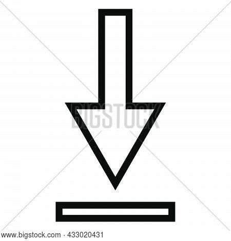 Download Arrow. Outline Download Arrow. Vector Eps 10