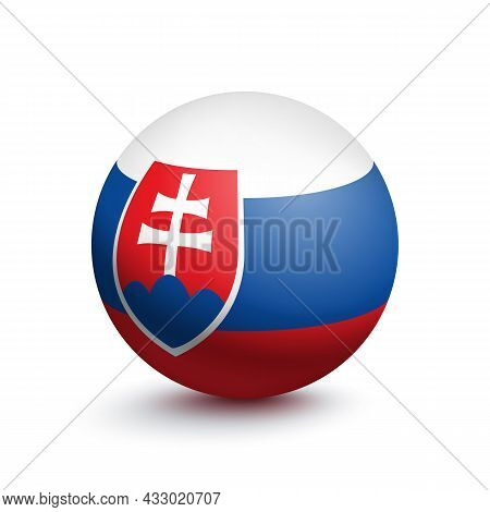 Flag Of Slovakia In The Form Of A Ball