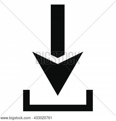 Download Arrow. Black Download Arrow. Stock Vector