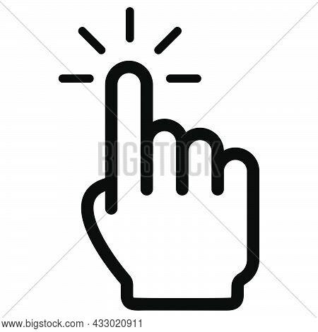 Cursor Pointer. Hand Cursor. Finger Pointer. Click Symbol. Computer Mouse Pictogram.