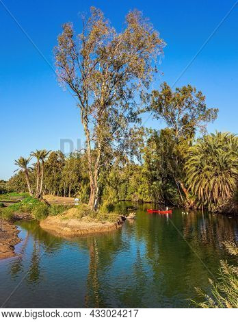 Yardenit is a place on the Jordan River, where Christian pilgrims immerse themselves The Jordan River is the most famous river in the world. Wonderful walk along the river. Israel