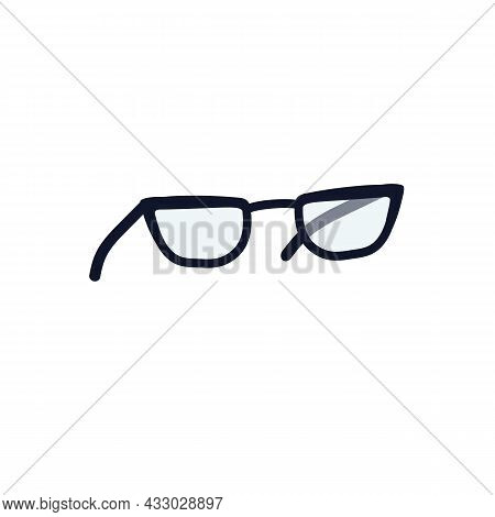 Vector Cartoon Flat Fashionable Glasses.new Trendy Beautiful Accessory Isolated On Empty Background-