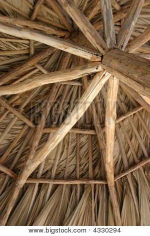 Thatch Roof On A Tiki Hut