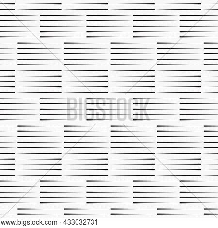 Vector Pattern Repeating Five Rows Of Checkered Plates On Horizon, Texture Background. Pattern Is On