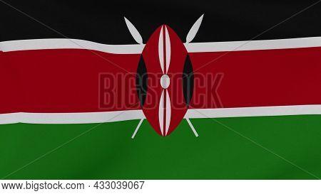 Flag Kenya Patriotism National Freedom , 3d Illustration
