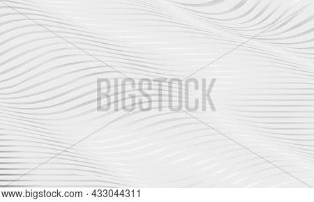 Abstract Luxury Soft Grey Wavy Fluid Glowing Shapes Elegance Geometric Background. Striped Horizonta