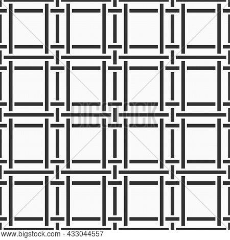 Vector Seamless Pattern. Ancient Stylish Abstract Texture. Repeating Cross Shapes With Intertwining