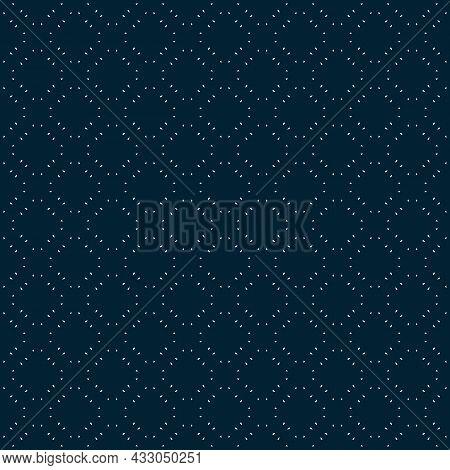 Minimalist Vector Seamless Pattern. Simple Delicate Geometric Texture. Abstract Dark Blue Minimal Ba