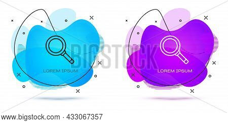 Line Frying Pan Icon Isolated On White Background. Fry Or Roast Food Symbol. Abstract Banner With Li