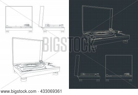Turntable Vinyl Blueprints