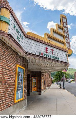 Anaconda, Mt, Usa - July 4, 2020: The Washoe Theater