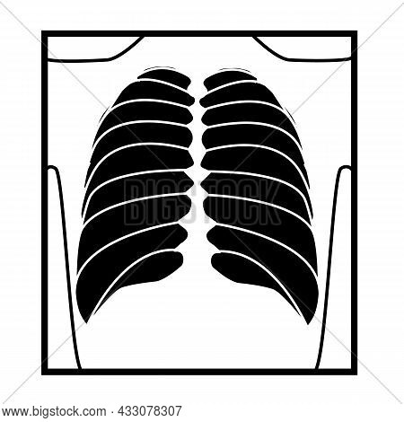 X-ray Icon On White Background. Radiologist X-ray Sign. Checkup Symbol. Flat Style.
