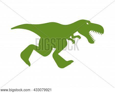 Dinosaur Tyrannosaurus Rex. T-rex Is Predator Lizard. Prehistoric Dino