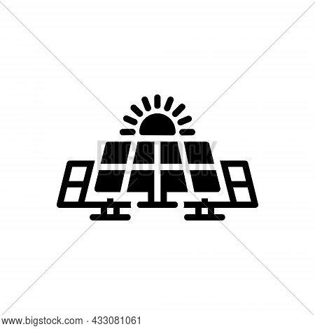 Black Solid Icon For Solar Panel Sun Sunlight Technology Electricity Solar-panel Energy Renewable Co