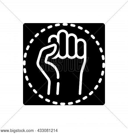 Black Solid Icon For Resistance Resist Protest Opposition Aggressive Antagonism Struggle Battle Defi