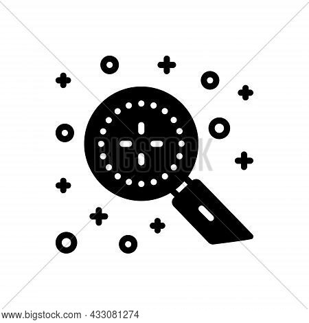 Black Solid Icon For Discover Magnifying Detect Explore Find-out Search Discovery Finding Recognize