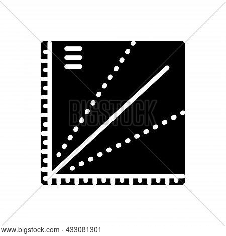 Black Solid Icon For Plot Plan Scheme Infographic Tract-of-land Design Property Residential Location