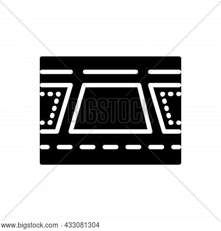 Black Solid Icon For Plot Plan Scheme Tract-of-land Design Property Residential Location Architectur