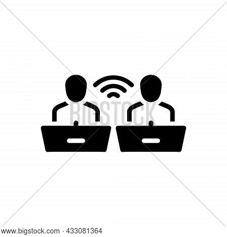 Black Solid Icon For Discourse Recitation Communication Conversation Debates Orator Discussion Peopl