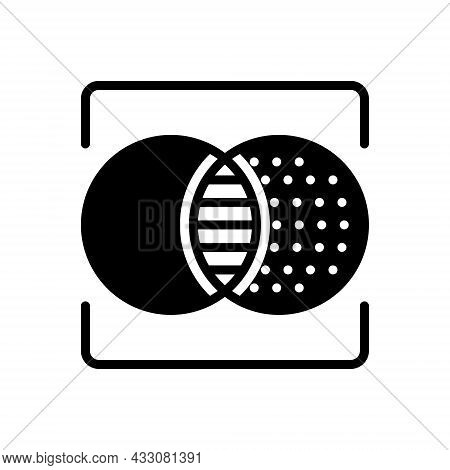 Black Solid Icon For Resemble Partake Take-after Feature Intersect Mirror Parallel Simulate Double D