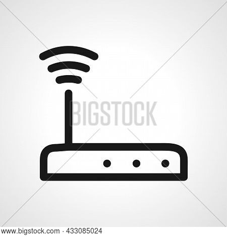 Wi-fi Router Vector Line Icon. Wi Fi Router Linear Outline Icon.