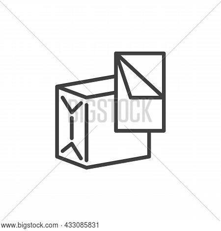 Napkin, Tissue Box Line Icon. Linear Style Sign For Mobile Concept And Web Design. Paper Napkin Box