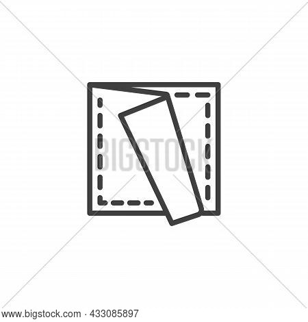 Folded Napkin Line Icon. Linear Style Sign For Mobile Concept And Web Design. Paper Napkin Folding O