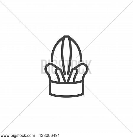 Folded Napkin Line Icon. Linear Style Sign For Mobile Concept And Web Design. Table Setting, Folded
