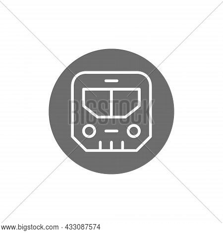 Subway Sign, Metro, Underground Transport, Train Grey Icon.